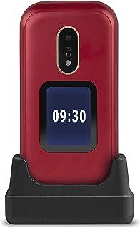 Doro 6060 – GSM mobiltelefon i elegant vikbar design (3 MP kamera, 2,8 tum (7,11 cm) skärm, GPS, Bluetooth) röd vit