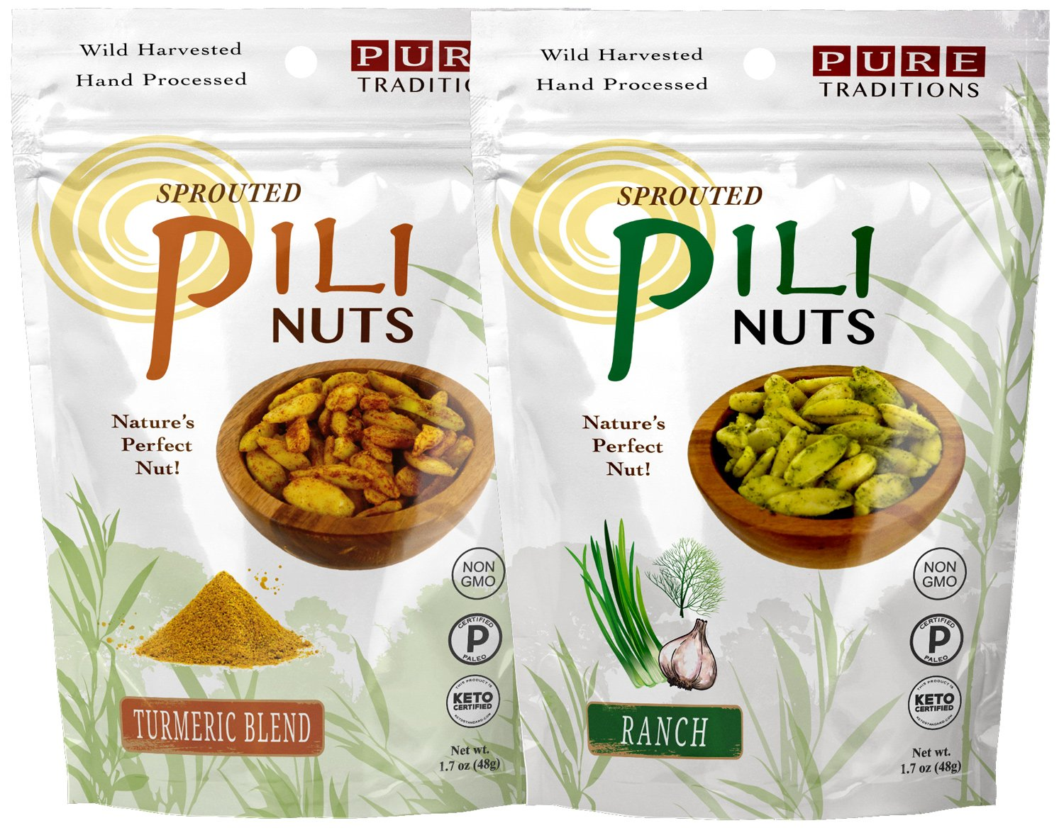Max 66% OFF Sprouted Pili Nuts Turmeric Blend 1.7 Ranch each Ranking TOP16 Sampler oz