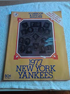 1977 New York Yankees Scorebook And Official Magazine