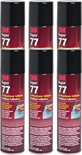 QTY6 3M SUPER 77 7.3OZ Spray Glue for FOIL Plastic Paper Foam Metal Fabric