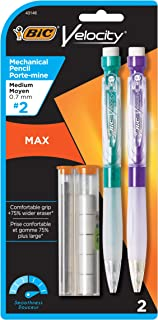 BIC Strong lead Velocity Max 0.7 mm Mechanical Pencil - Pack of 2