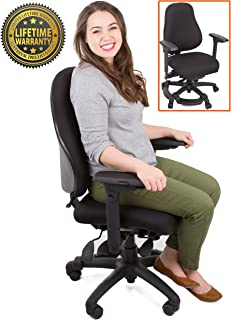 Stand Steady Neutral Posture 8500 – Comfort & Support for Users up to 275 lbs High Back Ergonomic Chair/Office Chair - Thick Seat Foam! (Medium – All Black)