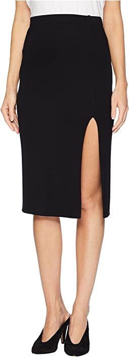Luxe Rib Pencil Skirt