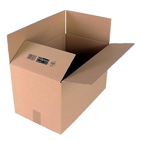 progressCARGO - PC K10.07 - Caja de embalaje, cartón ondulado, 1 ondulación