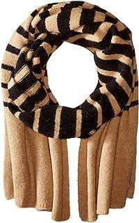 Lauren Ralph Lauren Striped Blanket Scarf ‑ Black/Frontier Tan