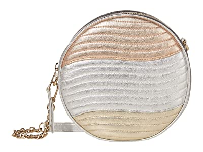 Furla Swing Mini Crossbody Round (Cipria/Silver/Platino) Handbags