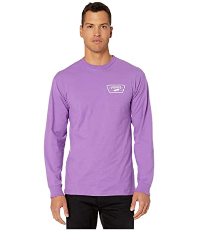 Vans Full Patch Back Long Sleeve T-Shirt (Dewberry/White) Men