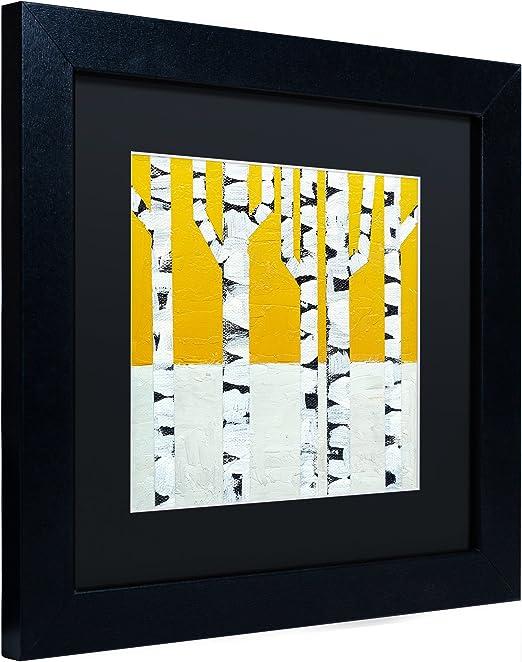 Seasonal Birches Winter By Michelle Calkins Black Matte Black Frame 11x11 Inch Home Kitchen