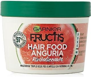Garnier Fructis Hair Food Anguria Rivitalizzante, Maschera 3-in-1 per Capelli Fini, Balsamo, Maschera e Trattamento senza ...