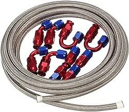 Vincos 16Ft 6 an AN6 Teflon PTFE E85 Oil Gas Fuel Hose + 10pcs an 6 Hose Fitting Kit