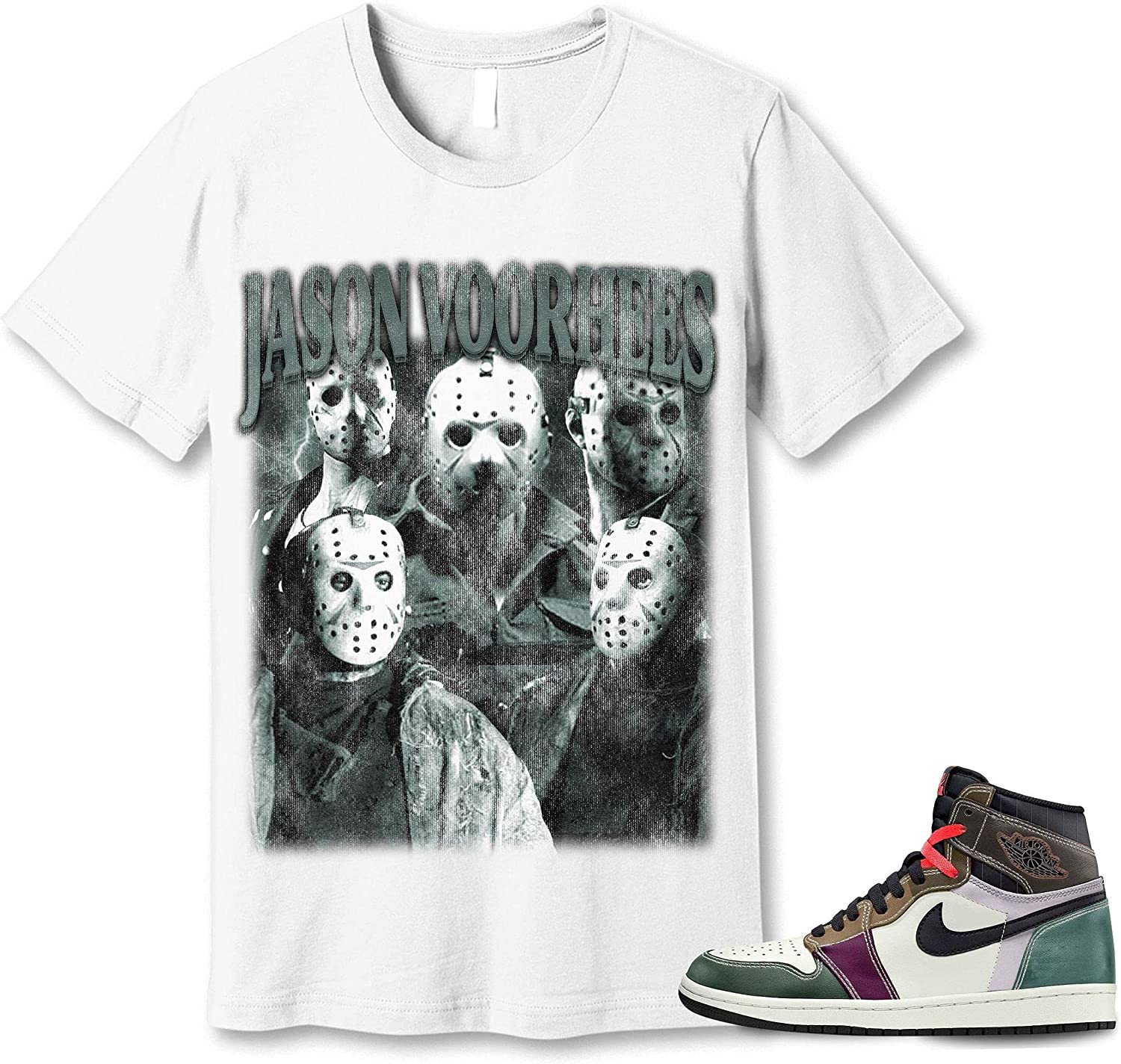 #Jason Ranking TOP20 #Voorhees T-Shirt Sales results No. 1 to Match Hand Crafted Jordan Sneaker
