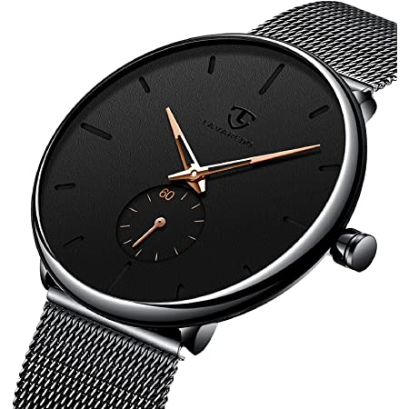 腕時計 メンズ腕時計 薄型 シンプル カジュアル ファッション ユニセックス 軽量 防水 メッシュバンド アナログクオーツ 時計 人気 宴会 ブラック