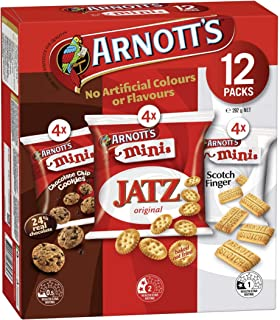 ARNOTT'S MINIS BISCUITS CHOCOLATE CHIP COOKIES, JATZ ORIGINAL, SCOTCH FINGER 12 PACKS 292g