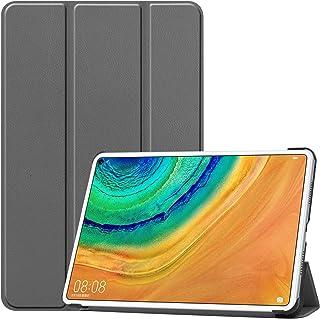 Huawei MatePad Pro 10.8 ケース 【ELMK】軽量 薄型 PU レザー スマート カバー 耐衝撃 傷防止 クリア ハード 背面 ケース 三つ折り スタンド 機能 Huawei MatePad Pro 10.8インチ 対応 ...