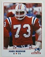 Autographed John Hannah Picture - 8 5x11 I - Autographed NFL Photos