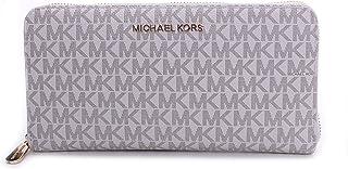 Michael Kors Women's Jet Set Travel Wallet No Size (Vanilla/Acorn)