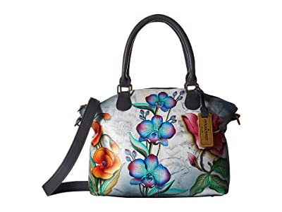 Anuschka Handbags 484 Medium Convertible Satchel (Floral Fantasy) Handbags