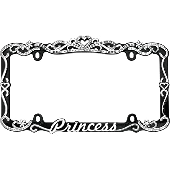 Move Over Princess Photo License Plate Frame Free Screw Caps with This Frame