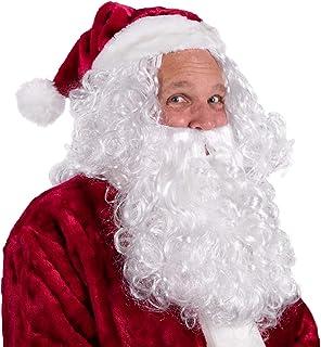 Boo Inc. Santa Beard & Wig | Christmas & Halloween Wizard Costume Accessory, White, One Size