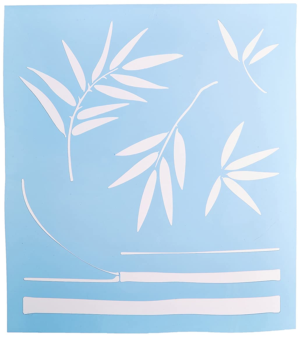 Faux Like a Pro Exotic Bamboo Stencil, 13.5 by 15-Inch, Freeform Allows You to Adjust Height and Width