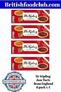 Bundle of 4 Mr Kipling, Jam Tarts, 6ct Package, 4 Packs Delivers 3-5 Days USA