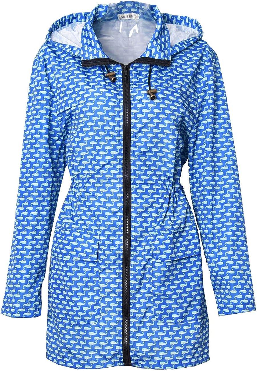 Lentta Women's Quick Dry Full Zip Up Lightweight Hooded Long Windbreaker Jacket