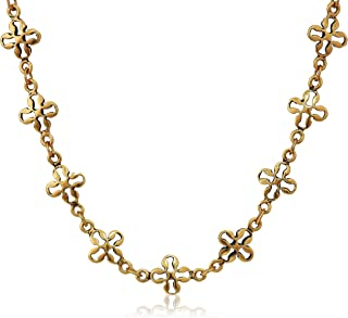 Mini Floral Chain 18 in. Magnetic Necklace, RG