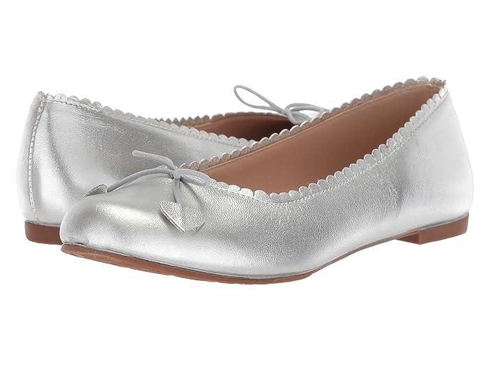 Elephantito  Scalloped Ballerina (Toddler/Little Kid/Big Kid) (Silver) Girls Shoes