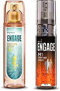 Engage W3 Perfume Spray For Women, 120ml and Engage M1 Perfume Spray For Men, 120ml