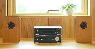 宗七音響 model 216 デスクトップパッシブスピーカー(チェリー)+TEAC製アンプ(AI-301DA-SP-B・ブラック)+TEAC製ワイドFMチューナー搭載CDプレーヤー(PD-301-B・ブラック)セット