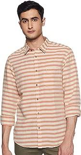 Indian Terrain Men's Striped Slim fit Casual Shirt