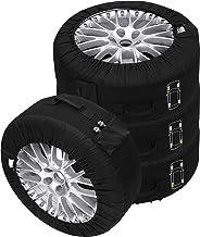 """C&D Lot de 4 Housses de pneus Premium noir, pour tous les types de pneus jusqu'à 245mm (14-18"""")"""