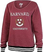 Harvard University Crimson Women V-Neck Varsity Fleece Sweater Sweatshirt