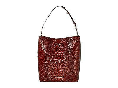 Brahmin Melbourne Large Amelia Bucket Bag (Pecan) Handbags