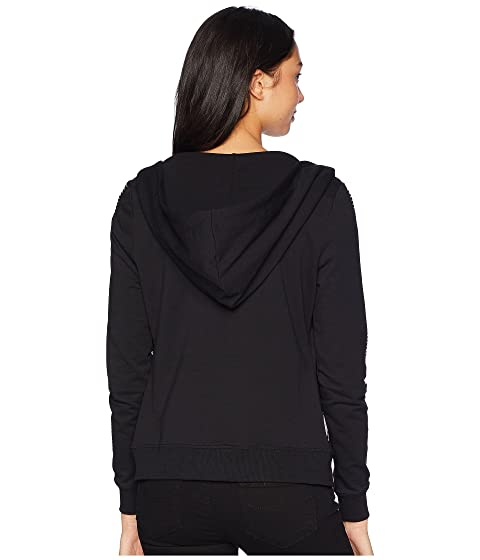 Long Hoodie Logo Bebe Rhinestones Sleeve 84wqdPqW
