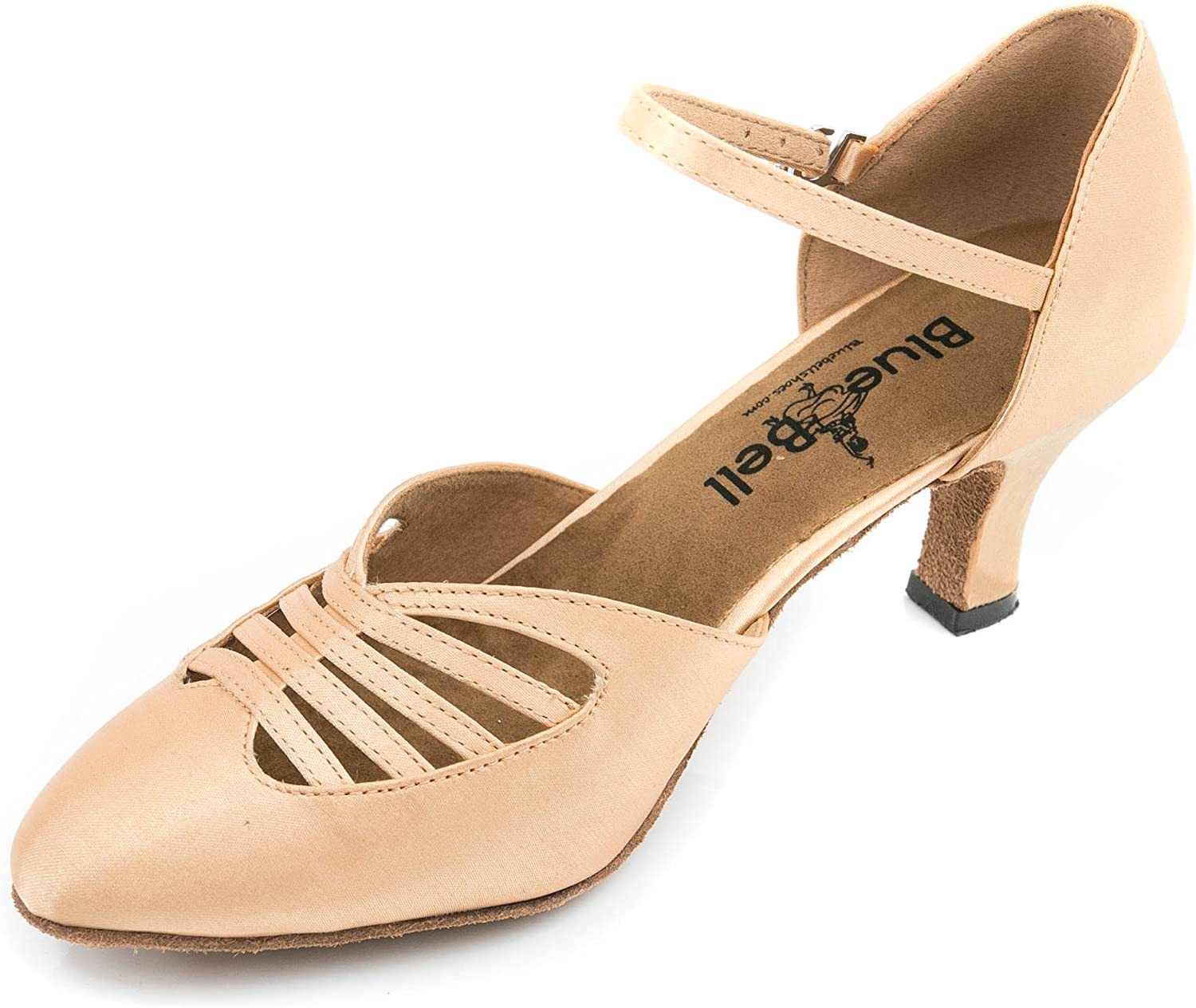 BlueBell Shoes Handmade Women's Ballroom Salsa Wedding Competition Dance Shoes Alice 2.5