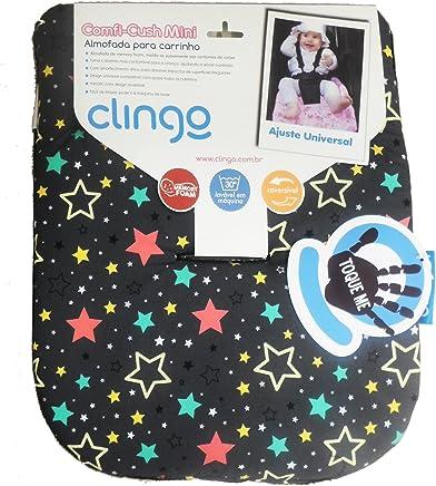 Almofada Mini Memory Foam, Clingo, Estampa Estrelas, Pequena