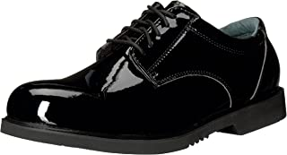 mens patent leather uniform shoes