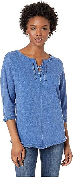Petite Debbie Lace-Up Sweatshirt