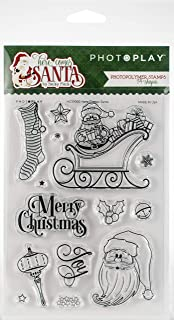 Photoplay Photopolymer Stamp-here Comes Santa