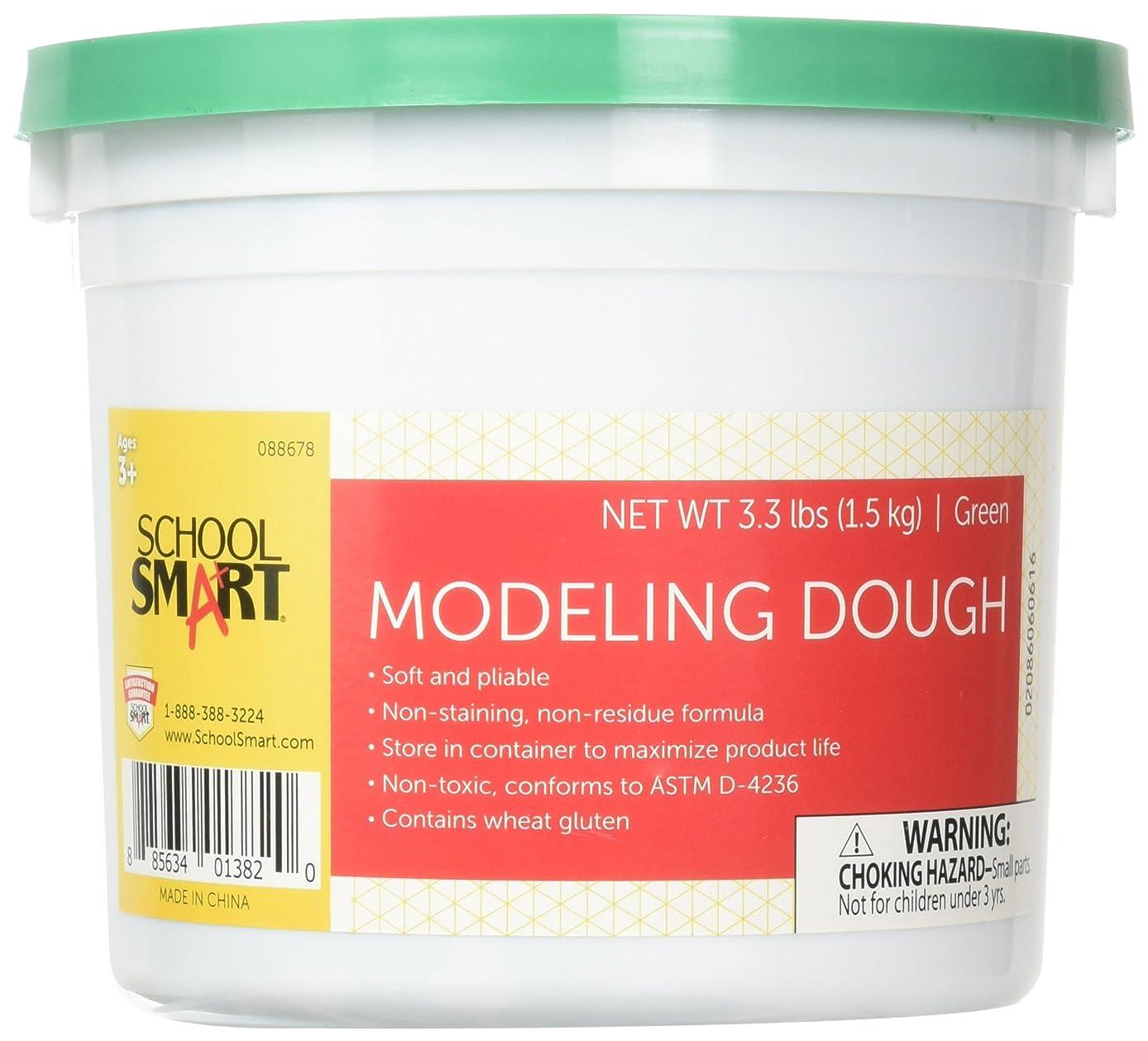 School Smart 88678 Non Toxic Modeling Dough - 3 1/3 pounds - Green