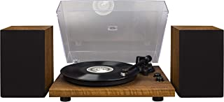 Crosley C62 Belt-Drive Bluetooth Turntable System with Included Speakers, Walnut