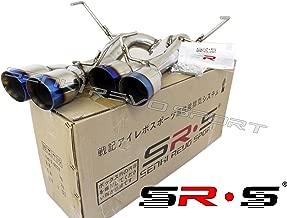 SRS Quad Axleback Burnt Tip Exhaust System For 2015+ Subaru WRX STI