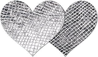 Nippies Style Silver Snake Heart Waterproof Self Adhesive Nipple Cover Pasties