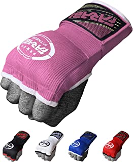 Farabi Hybrid Weight Lifting Gym Fitness Workout Inner Gloves Bar Grippers Boxing MMA Muay Thai Gym Workout Hand Wraps Gel Inner Gloves Fingerless Gloves Bandages Mitts Hand Protector.