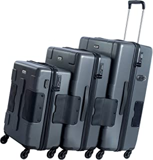 TACH V3 3-Piece Hardcase Connectable Luggage & Carryon Travel Bag Set | Double Wheels Rolling Suitcase with Patented Built...