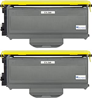 2 PC TN360 Metro Market Premium New Compatible Brother TN360 TN330 Black Toner Cartridge for Brother HL-2140 HL-2170W DCP-7030 DCP-7040 MFC-7340 MFC-7345N MFC-7440N MFC-7840W Printers 2600 Pages