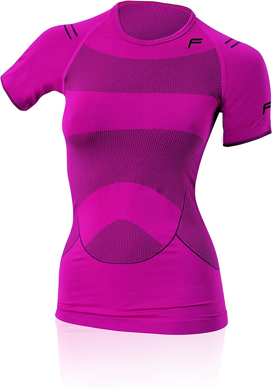 (Pink black, Small) - F-Lite Women's Megalight 140 Base Layer T-Shirt