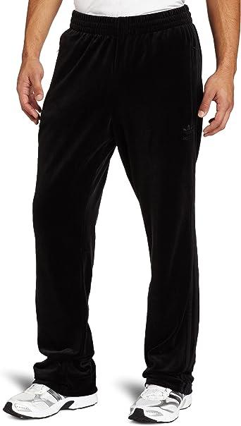 Amazon.com: adidas Men's Superstar Velour Track Pant, Black, X ...