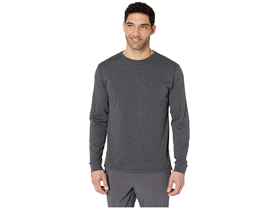 New Balance R.W.T. Long Sleeve Heathertech Top (Black Heather) Men